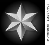 vector realistic silver star on ... | Shutterstock .eps vector #1159977937