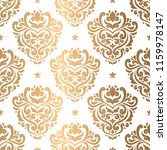 gold and white damask vector... | Shutterstock .eps vector #1159978147