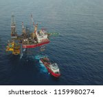 aerial view of a offshore... | Shutterstock . vector #1159980274