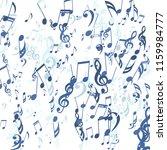 falling musical symbols.... | Shutterstock .eps vector #1159984777
