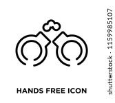 hands free icon vector isolated ... | Shutterstock .eps vector #1159985107