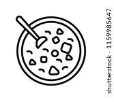 winter melon soup icon vector... | Shutterstock .eps vector #1159985647