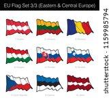 eu waving flag set of eastern n ... | Shutterstock .eps vector #1159985794