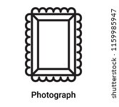 photograph icon vector isolated ... | Shutterstock .eps vector #1159985947