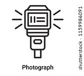 photograph icon vector isolated ... | Shutterstock .eps vector #1159986091
