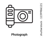photograph icon vector isolated ... | Shutterstock .eps vector #1159986121