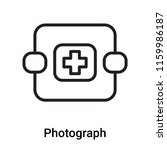 photograph icon vector isolated ... | Shutterstock .eps vector #1159986187
