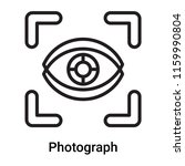 photograph icon vector isolated ... | Shutterstock .eps vector #1159990804