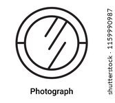 photograph icon vector isolated ... | Shutterstock .eps vector #1159990987