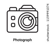 photograph icon vector isolated ... | Shutterstock .eps vector #1159991074