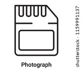 photograph icon vector isolated ... | Shutterstock .eps vector #1159991137