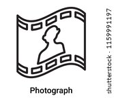 photograph icon vector isolated ... | Shutterstock .eps vector #1159991197