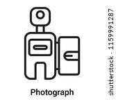 photograph icon vector isolated ... | Shutterstock .eps vector #1159991287