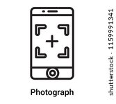 photograph icon vector isolated ... | Shutterstock .eps vector #1159991341