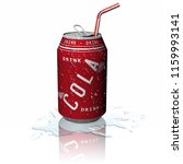 3d illustration. fresh drink.... | Shutterstock . vector #1159993141