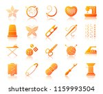 needlework icons set with... | Shutterstock .eps vector #1159993504