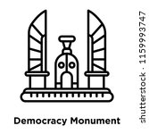 democracy monument icon vector... | Shutterstock .eps vector #1159993747