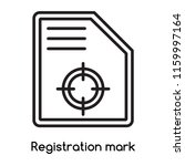 registration mark icon vector... | Shutterstock .eps vector #1159997164