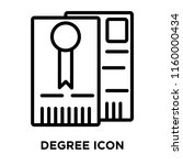 degree icon vector isolated on... | Shutterstock .eps vector #1160000434