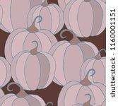 halloween background with... | Shutterstock .eps vector #1160001151