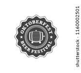 oktoberfest celebration. beer... | Shutterstock .eps vector #1160002501