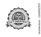 oktoberfest celebration. beer... | Shutterstock .eps vector #1160002537
