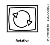 rotation icon vector isolated... | Shutterstock .eps vector #1160005837