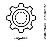 cogwheel icon vector isolated... | Shutterstock .eps vector #1160006254