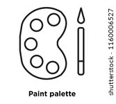 paint palette icon vector... | Shutterstock .eps vector #1160006527