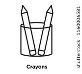 crayons icon vector isolated on ...   Shutterstock .eps vector #1160006581
