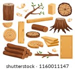 wood industry raw material and... | Shutterstock .eps vector #1160011147