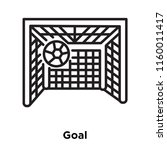 goal icon vector isolated on...