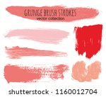 paint lines grunge collection....   Shutterstock .eps vector #1160012704