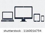 device icons   desktop computer ... | Shutterstock .eps vector #1160016754