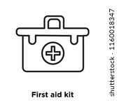 first aid kit icon vector... | Shutterstock .eps vector #1160018347