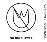 no fire allowed icon vector... | Shutterstock .eps vector #1160018497