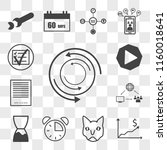 set of 13 transparent icons... | Shutterstock .eps vector #1160018641