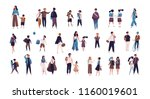 crowd of pupils  school... | Shutterstock .eps vector #1160019601