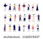 collection of people talking to ... | Shutterstock .eps vector #1160019637