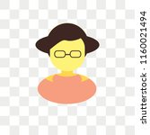woman vector icon isolated on...   Shutterstock .eps vector #1160021494