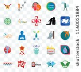 set of 25 transparent icons... | Shutterstock .eps vector #1160021884