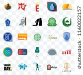set of 25 transparent icons... | Shutterstock .eps vector #1160022157