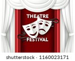 theatre festival poster banner... | Shutterstock .eps vector #1160023171
