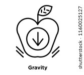 gravity icon vector isolated on ... | Shutterstock .eps vector #1160025127