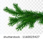 christmas tree branch. fir... | Shutterstock .eps vector #1160025427