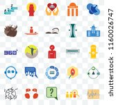 set of 25 transparent icons... | Shutterstock .eps vector #1160026747