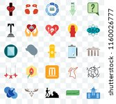 set of 25 transparent icons... | Shutterstock .eps vector #1160026777