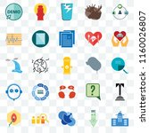 set of 25 transparent icons... | Shutterstock .eps vector #1160026807