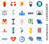 set of 25 transparent icons... | Shutterstock .eps vector #1160026834