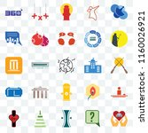 set of 25 transparent icons... | Shutterstock .eps vector #1160026921